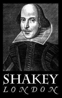 William Shakespeare, Shakey - T-shirt / poster print design