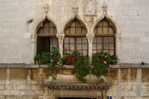 Windows in Porec, Croatia