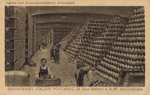 Wine cellar of Pocccardi Restaurant, Paris