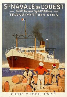 Wine shipping poster