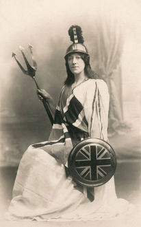 new images grenville collins collection/woman costume britannia