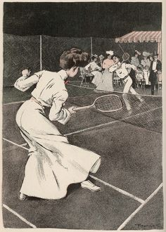 WOMAN PLAYS TENNIS 1903