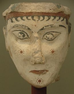 Woman's head painted. 13th Century B.C.. National Archaeolog