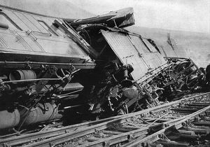 Wreckage of the Flying Scotsman