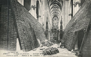 new images grenville collins collection/ww1 amiens cathedral france protection air