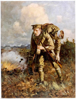 WW1/CARRYING WOUNDED