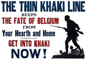 WW1 recruitment poster with silhouette