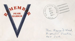 new images grenville collins collection/ww2 remember pearl harbour patriotic envelope