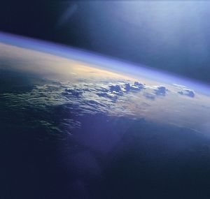 Clouds and Sunglint over Indian Ocean