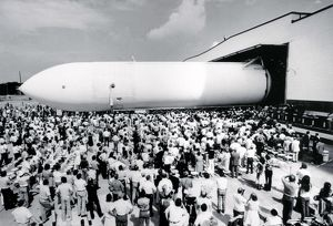The First Space Shuttle External Tank