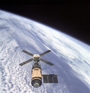 Skylab and Earth Limb
