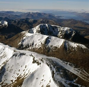 Aerial image of Scotland, UK: Ben Nevis (Scottish