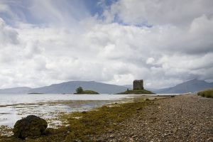 Castle Stalker - atmospheric landscape in the Scottish