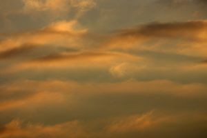 Clouds at sunset in Montier en Der