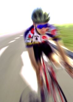 Cyclist at speed