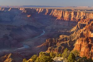 Grand Canyon - panoramic view from Grandview Point into the Grand Canyon and the