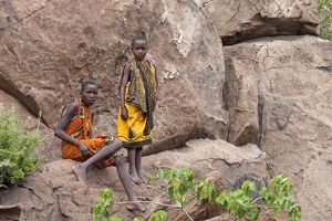 Hadzabe Tribal Boys - less than 1500 Hadzabe remain