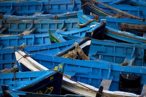 Morocco - blue boats