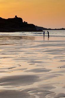 St Ives - beach at sunset