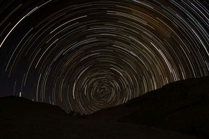 Startrails - near the Brandberg Mountain