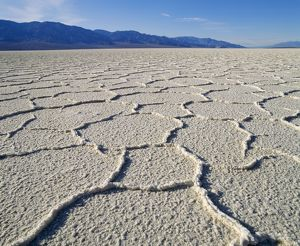 USA - Death Valley National Monument, Badwater salt flats, lowest point in United States -86m