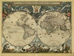 17th century world map