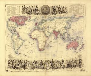 British Empire world map, 19th century