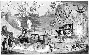 Dangers of steam carriages, 19th century