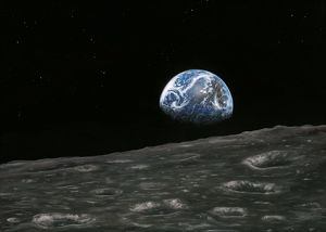 space/earthrise photograph artwork