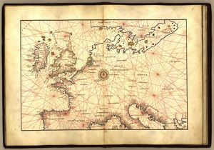 Europe, 16th century nautical map