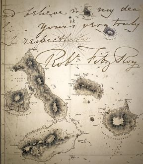 Galapagos Admiralty map by Fitzroy Beagle