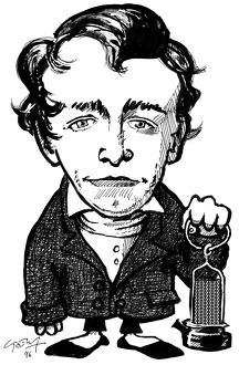 Humphry Davy, caricature