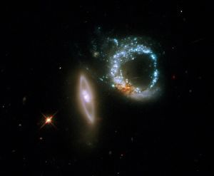 Interacting galaxies Arp 147, HST image