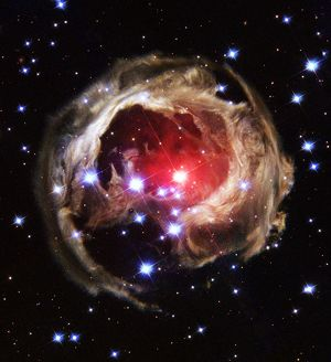 light echoes exploding star