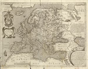Map of Europe, 1600