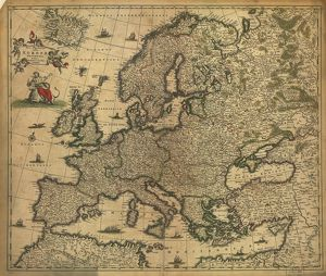 Map of Europe, 1700