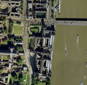 Palace of Westminster, London, aerial