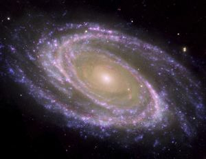 space/spiral galaxy m81 composite image