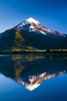 argentina, The Lake District, Parque Nacional Lanin. Lanin volcanoe, an ice-clad