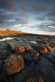 England, Northumberland, Dunstanburgh Castle