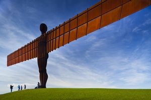 England, Tyne and Wear, Gateshead. The iconic Angel of the North statue by Antony Gormley