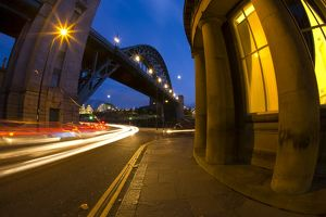 England, Tyne and Wear, Newcastle Upon Tyne. Rush hour traffic near the Tyne Bridge