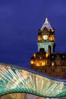 Scotland, Edinburgh, Balmoral Hotel Clock Tower