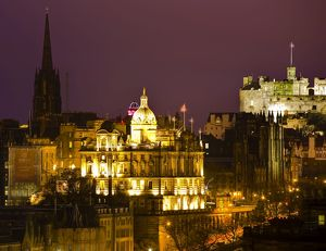 Scotland, Edinburgh, City Skyline. City skyline viewed from Calton Hill looking towards