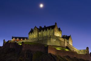 Scotland, Edinburgh, Edinburgh Castle. Edinburgh Castle is built upon the remains