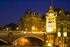 Scotland, Edinburgh, North Bridge.