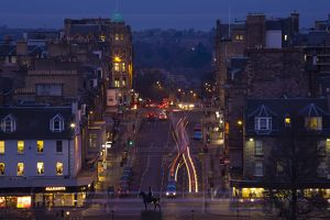 Scotland, Edinburgh, Princes Street.