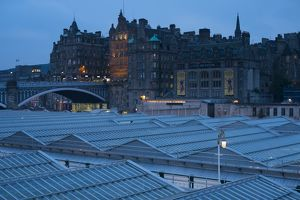 Scotland, Edinburgh, Waverley Station.