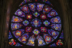 18th century rose window dedicated mary reims
