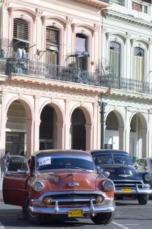 A 1950's American Chevy for sale in central Havana, Cuba, West Indies